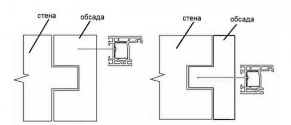 Обсадная коробка делается из бруса, в котором выбирается паз или вырезается шип. Соответственно профили обсады бывают П или Т