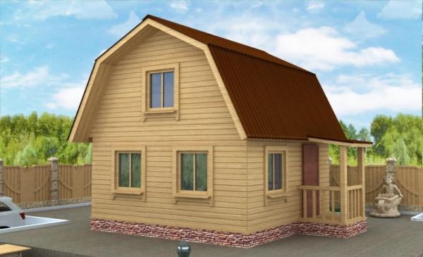 Дачный дом из бруса 5 на 5