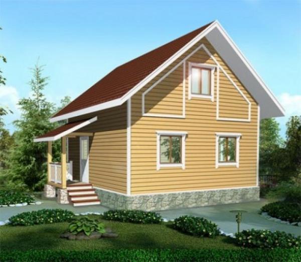 Двухэтажный дом из бруса 6 на 6