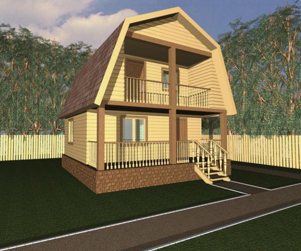 Двухэтажный дом с мансардой 6 на 6