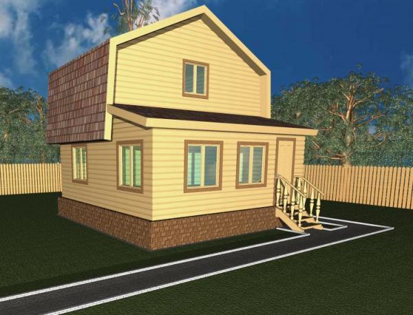 Современный просторный дом из Бруса 6 на 6