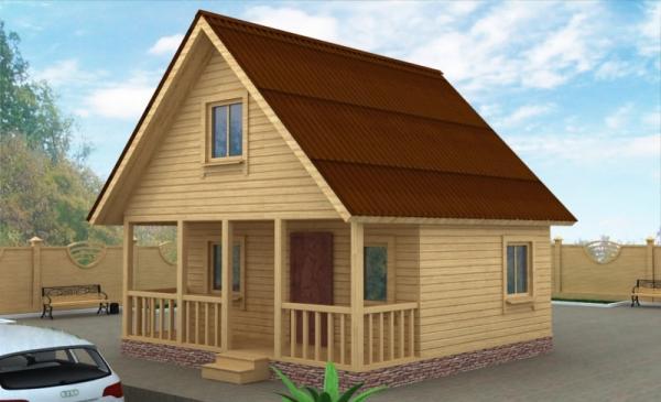 Уютный домик из бруса 6 на 6