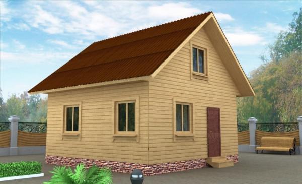 Гостевой домик из бруса 6 на 6