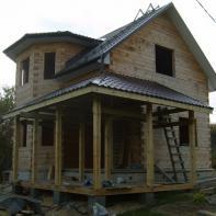 Сделано покрытие для крыши террасы