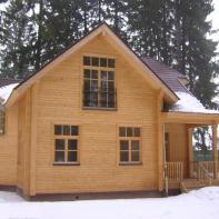 Дом из клееного бруса двухэтажный с террасой