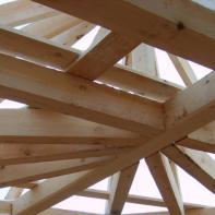 Установка стропильной системы крыши